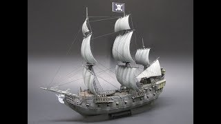 Revell Disney Pirates of the Caribbean Black Pearl 1/150 Scale Model Kit Review 05499