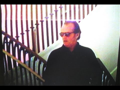 JACK NICHOLSON &  ELLEN BARKIN descend giant staircase leaving party