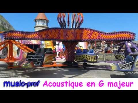 Guitare Piste Soutien (34) Guitares acoustique en G majeur.
