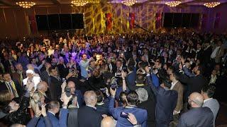 Ali Koç'un sahneye geliş anındaki coşkulu tanıtımı   19 Mart Büyük Buluşma