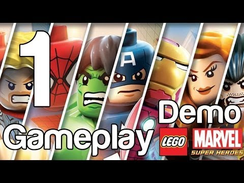 LEGO Marvel Super Heroes Gameplay Part 1 Demo Gameplay Iron Man Hulk Spiderman | WikiGameGuides