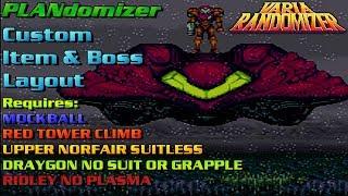 Super Metroid Randomizer   PLANdomizer Custom Logic - Shuffled Items & Bosses