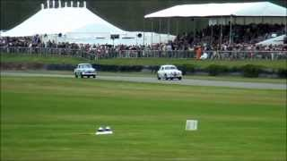 Jaguar Mk 1 Goodwood drifting