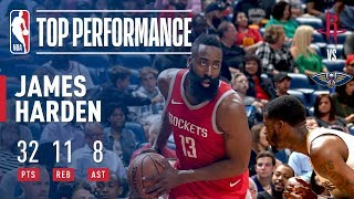 James Harden Fills Up The Stat Sheet in New Orleans!