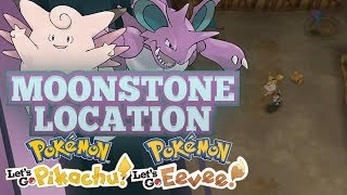MOONSTONE GUIDE! How and Where to Find Moonstones in Pokemon Let's GO Pikachu and Eevee!