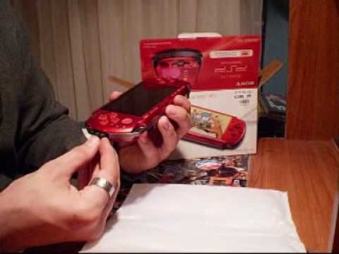 Psp 3000 Red And Black Psp 3000 Radiant Red Unboxing