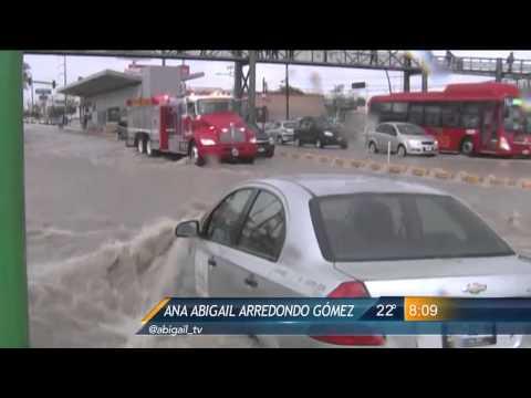 Las Noticias - Lluvias inundan el poniente de Monterrey