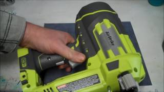 Ryobi 16ga Finish Nailer Review - Tips and Demonstration P325