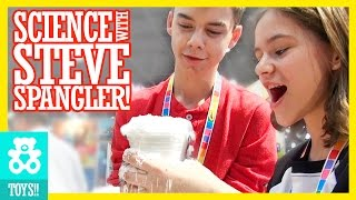 SCIENCE WITH STEVE SPANGLER! | Insta-Snow & Mentos Geyser  |  KITTIESMAMA
