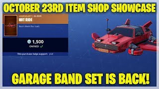 Fortnite Item Shop GARAGE BAND SET IS BACK! [October 23rd, 2018] (Fortnite Battle Royale)