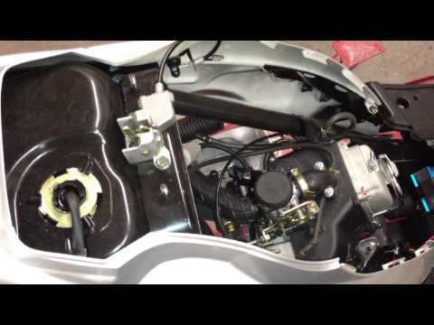 How to Install 139QMB / 1P39QMB big bore installation 50cc/70cc/80cc/90cc/100cc Install   Part 4