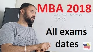 Tentative timeline for all MBA 2018 exams CAT XAT NMAT CET