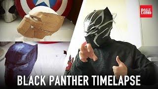 Timelapse - Make Black Panther Mask DIY Cosplay