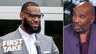 'LeBron James is a genius' businessman - Steve Harvey | First Take