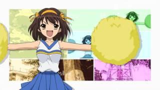 The Melancholy of Haruhi Suzumiya Opening 1 Bouken Desho Desho HD 1080p