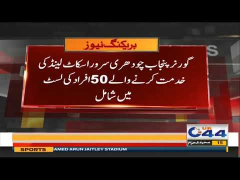 Governor Punjab Chaudhry Sarwar Is On List Of 50 People Serving Scotland