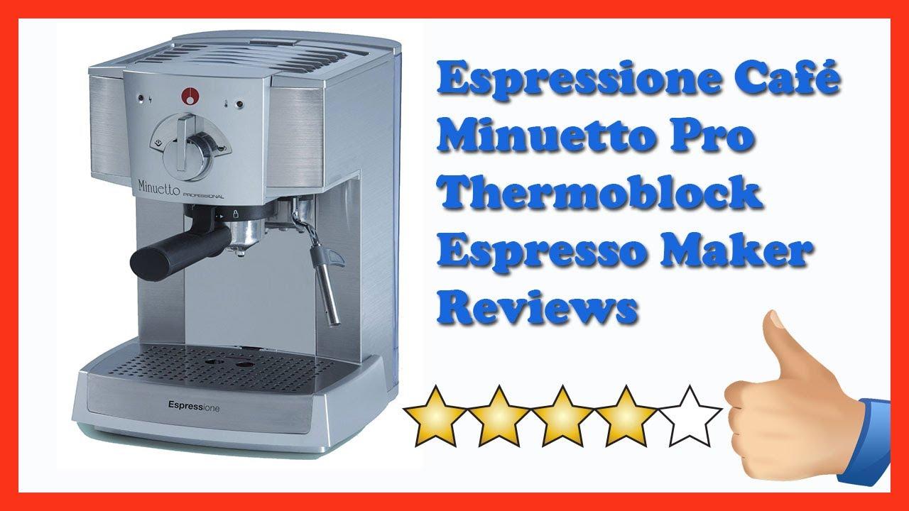 espresso maker reviews espressione cafe minuetto pro. Black Bedroom Furniture Sets. Home Design Ideas