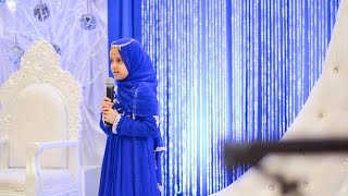 Maryam is presenting Surah Al-E-Imran at her Hifz Graduation Ceremony