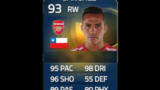 FIFA 15 TOTS SANCHEZ 93 Player Review & In Game Stats Ultimate Team