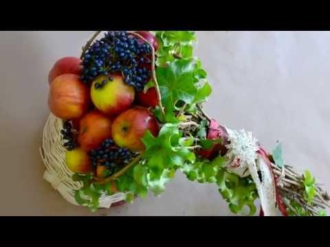 Флористика Букет из яблок в спиральной технике (Мастер Класс) Flowers. Floral lessons.