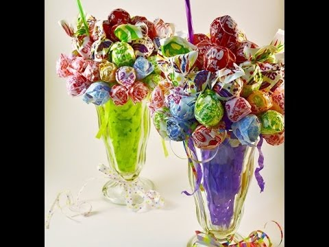 Edible Candy Bouquet Lollipop Malt How To Video