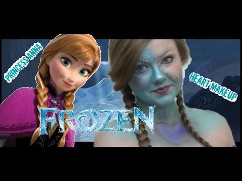 Princess Anna 👑 Frozen Heart Makeup Tutorial