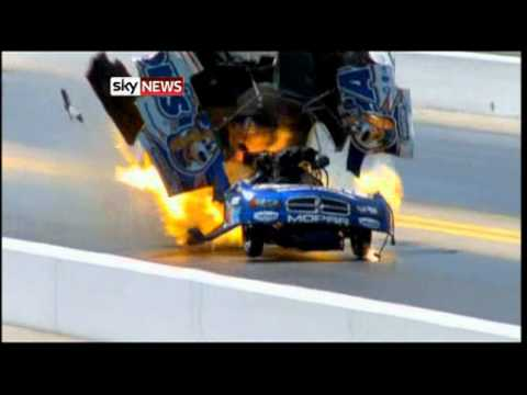 Drag Car Explodes At 260mph in Charlotte, North Carolina