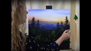 How to Paint Mount Greylock at Dusk, Paint and Sip at Home