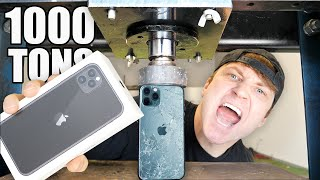 IPHONE 11 PRO vs HYDRAULIC PRESS!!