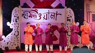 গুলিস্থান মহাগর নাট্যমঞ্চ কাপালো সাইমুমের শিল্পীরা। দেখুন সাইমুমের মনকারা পরিবেশনা।