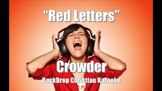 Crowder 34 Red Letters 34 Backdrop Christian Karaoke
