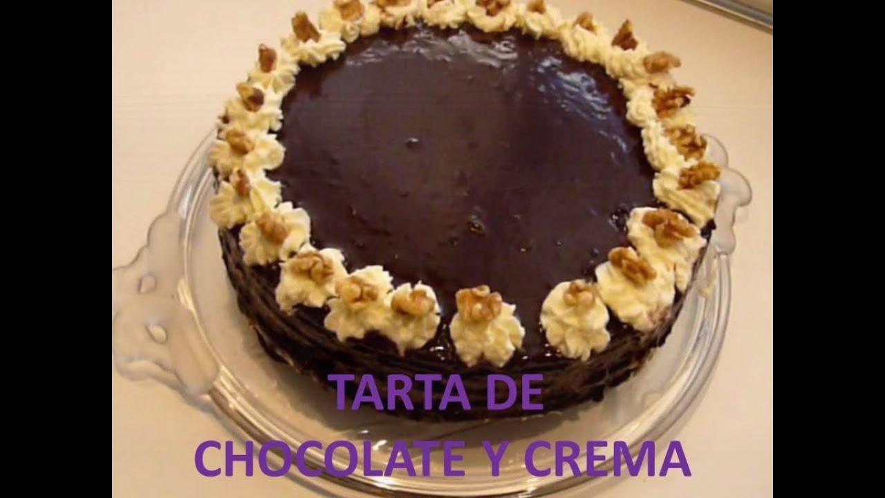 Crema de Chocolate Tarta de Chocolate y Crema