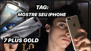 TAG MOSTRE SEU IPHONE (7 PLUS DOURADO) + CASES