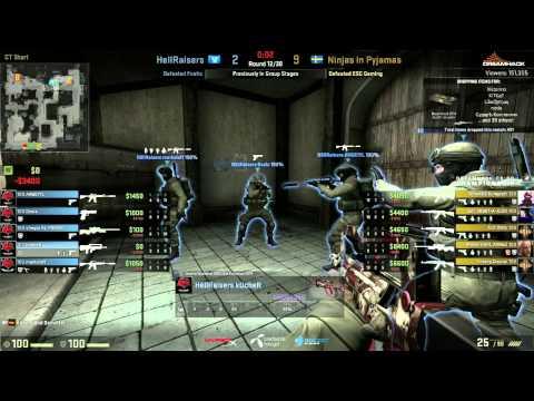 Dreamhack Winter 2014 CS:GO Championship Quarter Finals HellRaisers vs Nip-Gaming Game1 De_Dust2