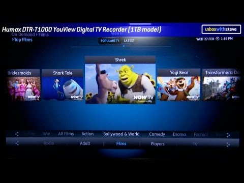 YouView Digital TV Recorder Product Demo Humax DTR-T1000 / DTR-T1010 - Unbox with Steve