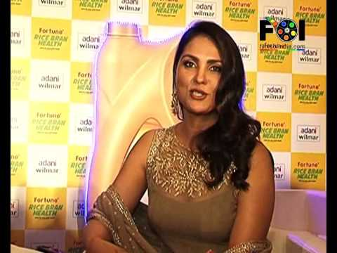 Lara Dutta launches 'Fortune Rice Bran Health' cooking oil