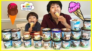 ICE CREAM CHALLENGE!! BEN & JERRY'S 20 FLAVORS Guess the flavor Taste test Funny video!