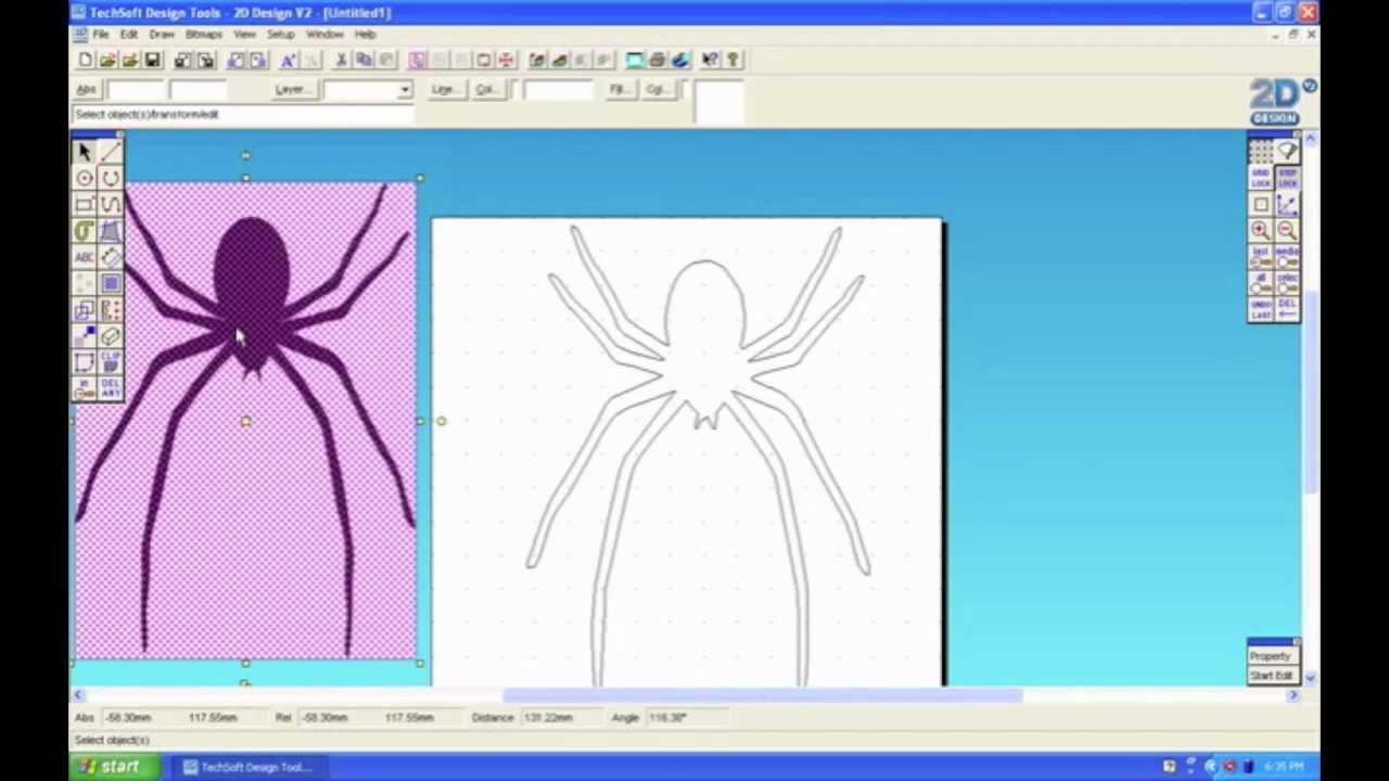 2d design video tutorial 3 contour youtube for 2d blueprint maker