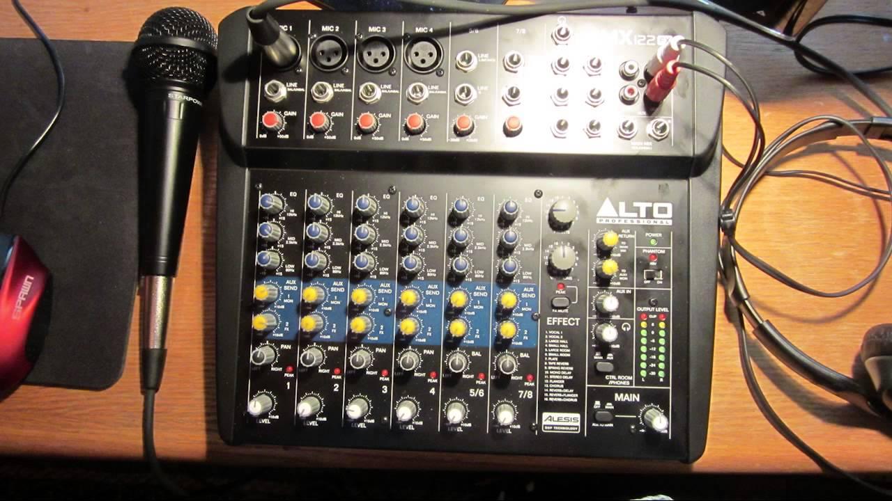 Alto Zmx122 Fx Audio Test