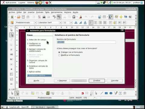 OpenOffice.org Base - Formularios e informes