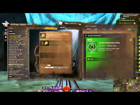 Guild Wars 2 - Easy Monthly Masterwork Crafter!