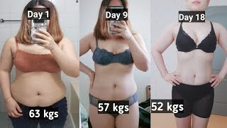 NO RICE DIET | HOW I LOSE 11 KGS IN 18 DAYS | Pano pumayat ng mabilis with home exercise