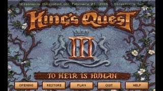 King's Quest III Redux: To Heir Is Human - Walkthrough - Introduction - Director's Cut