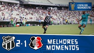 Ceará 2 x 1 Santa Cruz | Gols e melhores momentos | 7ª rodada | Copa do Nordeste 2019