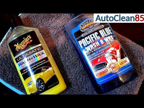 Autoshampoo mit Wachs / Versiegelung ja oder nein??? Meguiars Wash&Wax & SCG Pacific Blue Wash&Wax