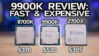9900K Review & Benchmarks vs 2700X and 8700K!