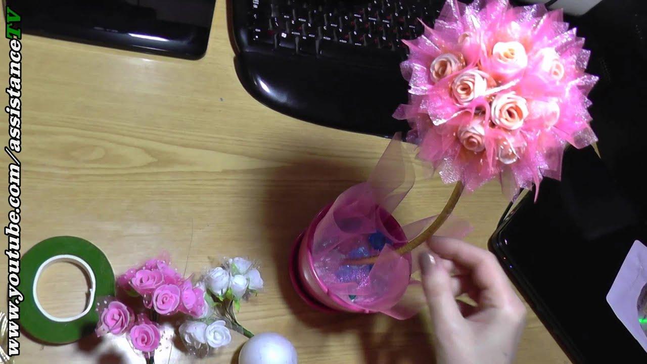 Видео как делать топиарий своими руками