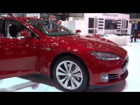 Tesla Model S at the 2014 Geneva Auto Show