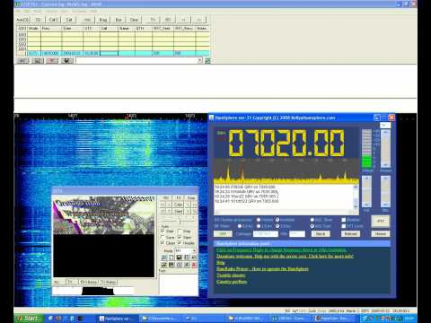 Odebrana transmisja SSTV na 7020KHz. (Received SSTV transmission on 7020KHz)