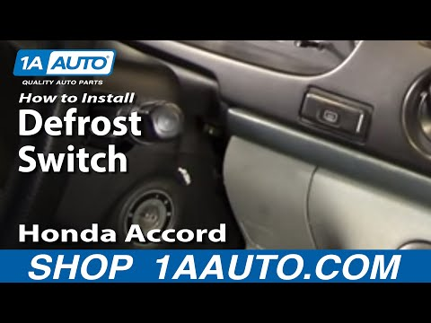 How To Install Replace Rear Defrost Switch Honda Accord Odyssey 94-98 1AAuto.com